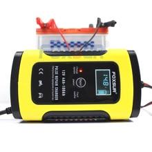 FOXSUR 12V 5A автомобильное зарядное устройство для мотоцикла, Ремонтное зарядное устройство для автомобиля, ЖК дисплей