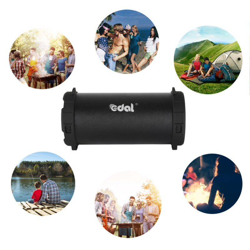 Portable Bluetooth Speaker Wireless Super Bass Subwoofer Outdoor Sport Sound Box FM Stereo Speakers For Travel Party new original meizu lifeme bts30 wireless bluetooth 4 2 aluminum speaker portable stereo outdoor bass mini speakers pk b