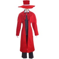 2018 Hellsing Alucard Cosplay Costume Set Vampire Hunter Made Any Size With Hat