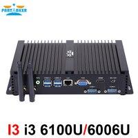 Причастником Intel Core i3 6006U Skylake Nuc Mini PC Barebone Linux микро компьютер Win10 HTPC ТВ Box 300 м Wi Fi VGA, HDMI 2 COM Порты