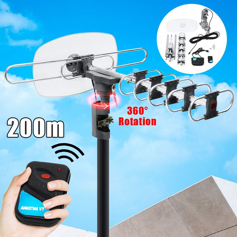 36dB HD Digital 360 Degree  Outdoor TV Antenna For  Full HD TV DVB-T UHF VHF FM High Gain Strong Signal Outdoor TV Antenna