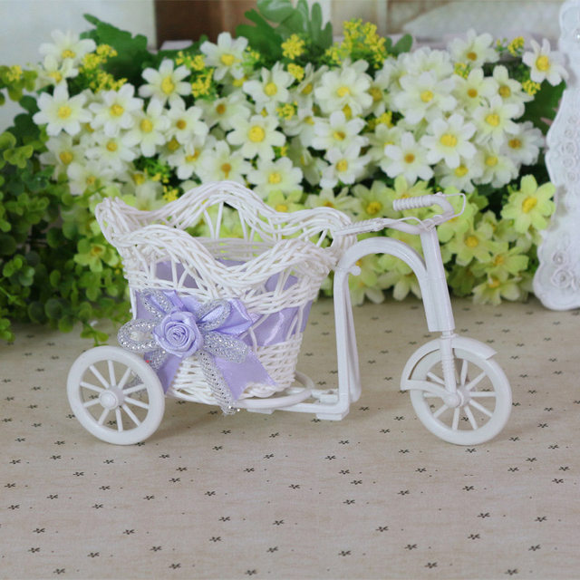 Online Shop Bike Candy Box Flower Vase Stand Container Basket Baby