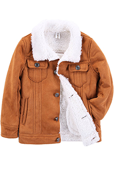 31353a077 Pettigirl 2019 New Boys Winter Warm Brown Long Sleeves Jacket ...