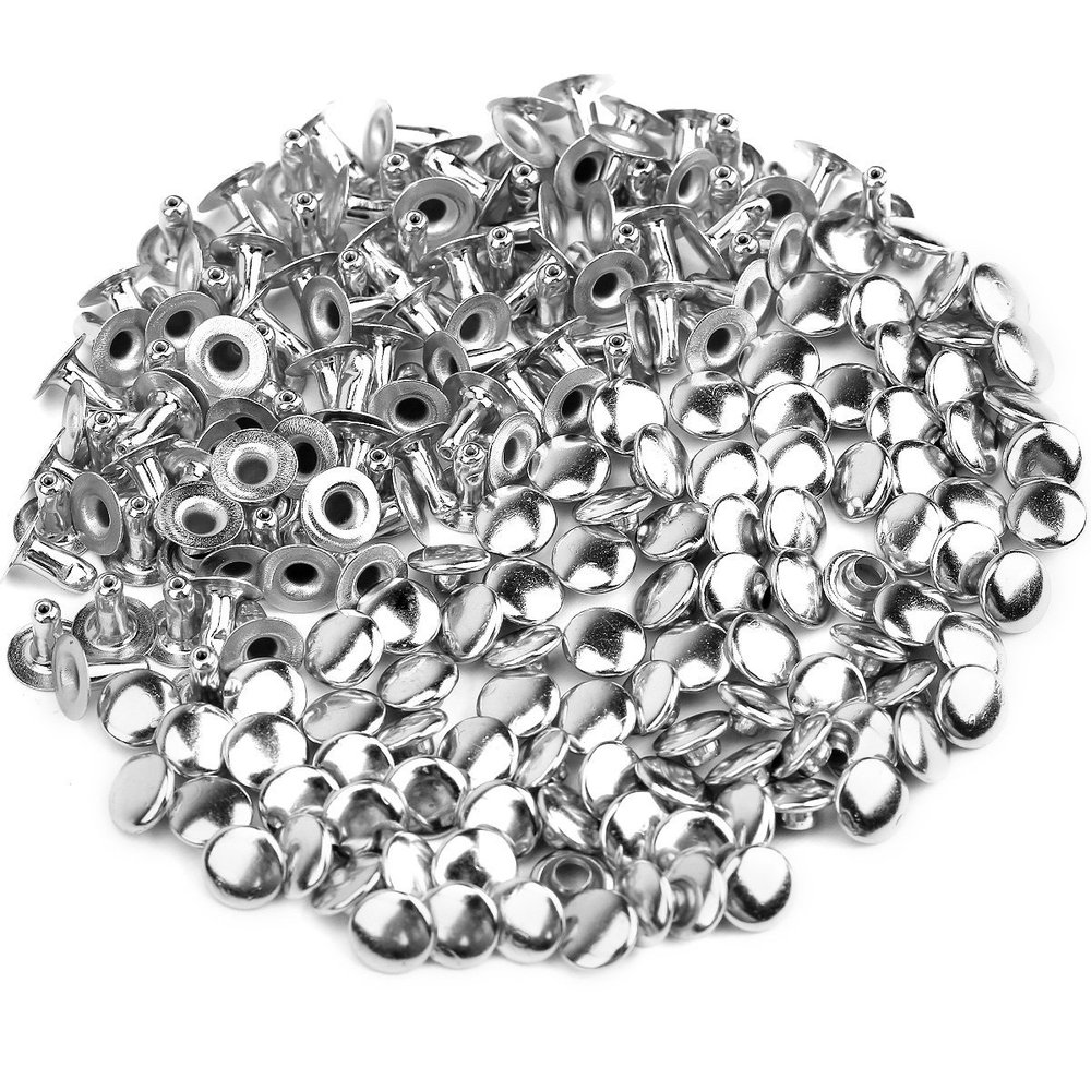 100pcs 6mm Round Mushroom Shaped Metal Rivets DIY Punk Style Leather Shoes Bag Bracelet Rapid Studs (Silver) цена