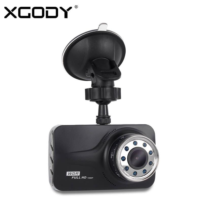 Xgody 3'' Car Camera Recorder Night Vision Cam With 9 Ir Lights Car Dashcams Video Registrator Car Dvr With Russian Language