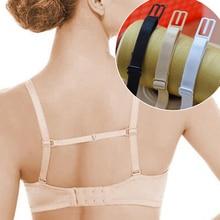 5Pcs Double-Shoulder Straps Slip-Resistant Belts Buckle Shoulder Straps Bra Non-Slip Back Bra Straps Holder Adjustable 4 Colors