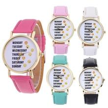 2017 New Fashion Female Casual Wristwatch 1.57″ Dial Leather Band Analog Quartz Watch Cute Emjoj Pattterns Women's Wristwatch