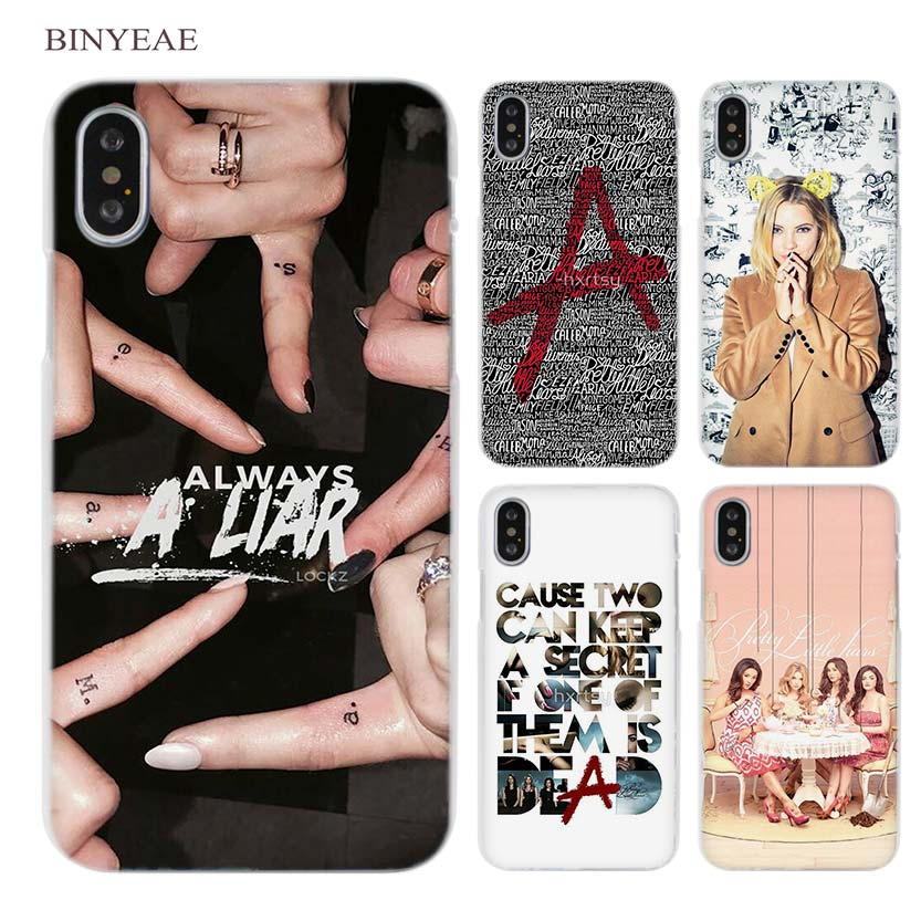 BINYEAE Pretty Little Liars Clear Cell Phone Case Cover for Apple iPhone X 6 6s 7 8 Plus 4 4s 5 5s SE 5c