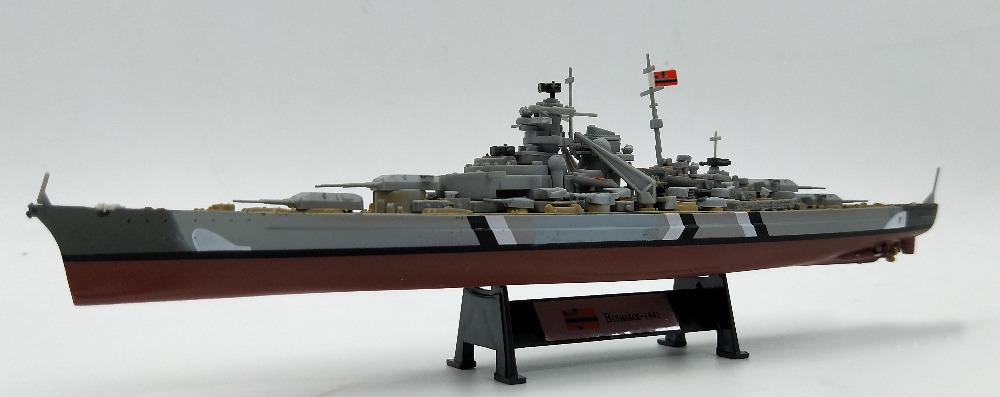 1:1000 German Bismarck battleship alloy model finished warship Collection model стоимость