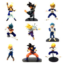 11-23 cm Japonês figura anime dragon ball Son Goku/Vegeta/Vegetto action figure collectible modelo brinquedos para meninos(China)