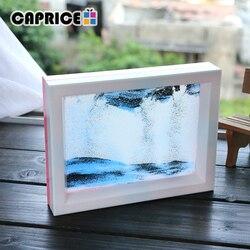Ruchomy piasek ramka na zdjęcia pulpit ozdoby do domu kreatywny plastik kolorowy piasek szkło przezroczysty płyn zmienny obraz SLH 6 w Figurki i miniatury od Dom i ogród na