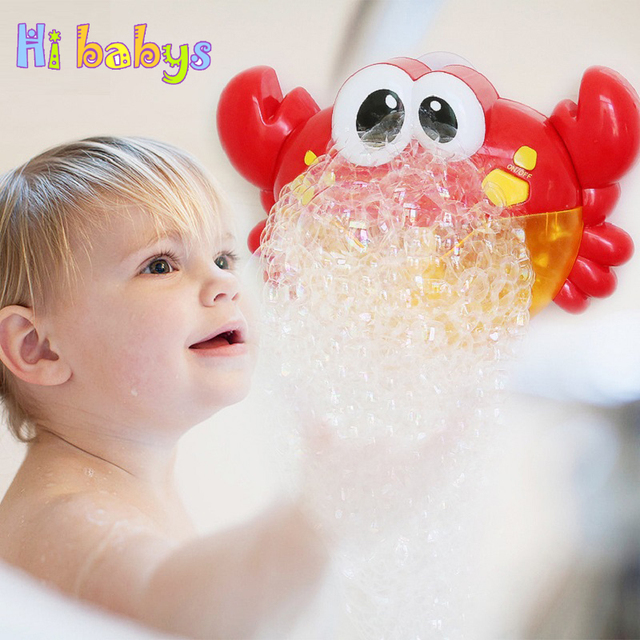 Crab Bubble Maker Baby Bath Automatic Bubble Spraying Toy Child Shower Soup Water Playing Newborn Bathroom Funny Toy Kids Gift