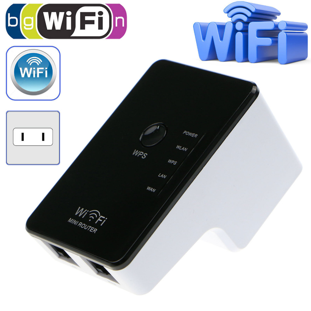 300 Mbps WiFi Range Extender Wireless-Booster Repeater 2,4 Ghz Wi fi Signal Internet Netzwerk UNS Wand Netzstecker Mini Router Neue