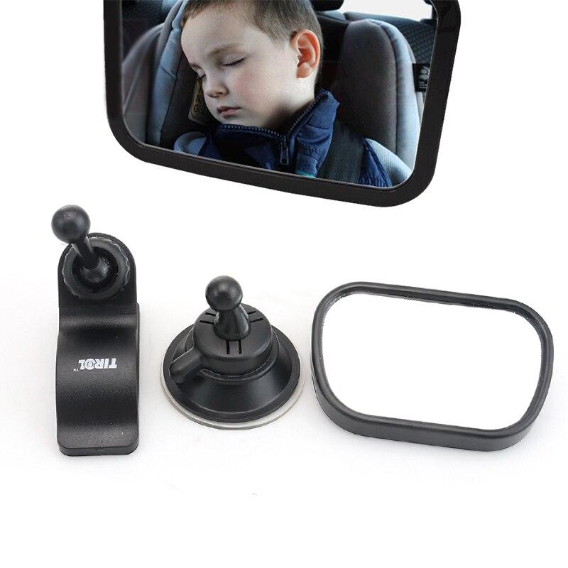 Car Child Mirror For Child Seat Safety Auto Headrest Baby Rearview Mirror Car Styling Universal Interior Mirror Black