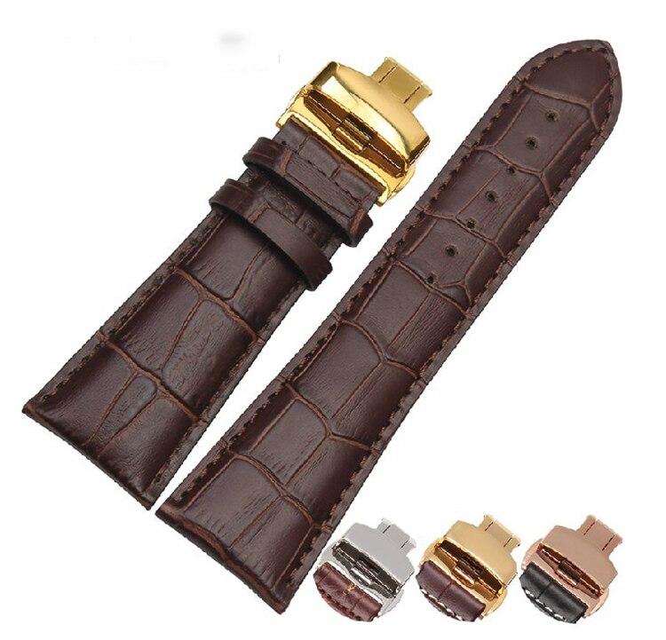 Prix pour Bracelet en cuir Sangles Bracelet 22/23/24/26/28mm fit Sevenfriday montres hommes AR4219 AR5946 AR0155 AR0321 Or Papillon Fermoir