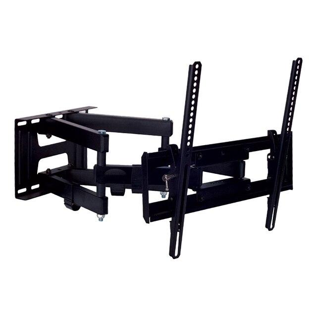 ТВ Кронштейн Kromax PIXIS-L new black (Кронштейн для LED/LCD/PLASMA телевизоров 26-55 дюймов, max 50 кг, настенный, наклон +3°-10°, поворот 160°, от стены 75-500 мм,универсальная система крепления)