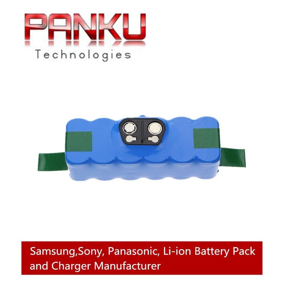 14.4V 6.0Ah Li-ion <font><b>Battery</b></font> for iRobot <font><b>Roomba</b></font> 500 600 700 800 Series 510 530 531 532 550 585 561 620 630 650 760 <font><b>770</b></font> 780