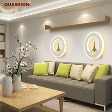 19W 20cm Modern led sconce round wall lights for bedroom study living balcony room Acrylic home decoration led lamp fixture стоимость