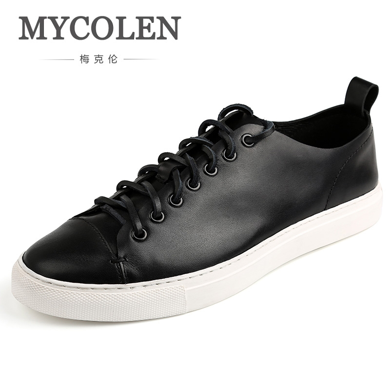 MYCOLEN New 2018 Men Shoes Brand Flat Shoes Men Fashion Male Summer Footwear Comfortable Men Casual Shoes Scarpe Uomo Casual 2016 new deluxe brand golden goose uomo donna fashion women men casual low cut shoes original box eur 35 46