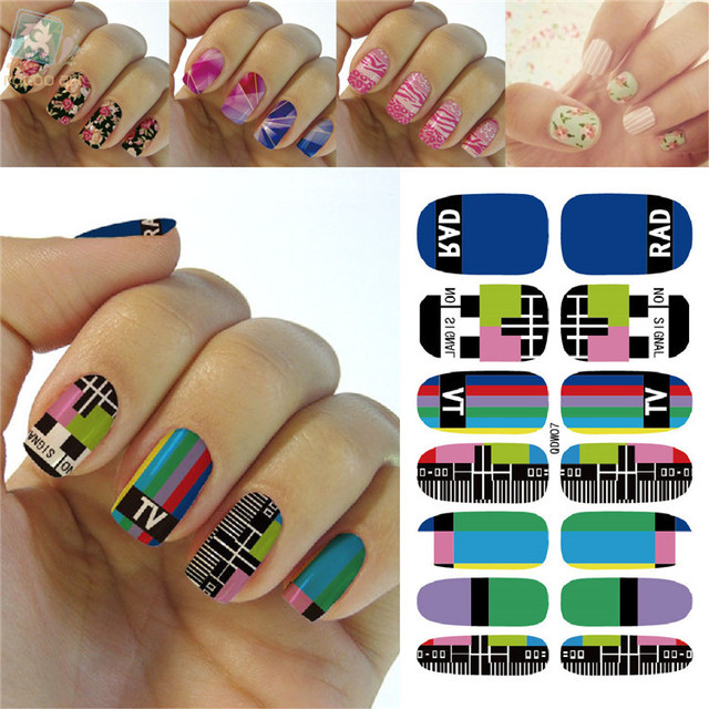 K56772016 New Beauty Fashion No Signal Nail Art Designs Full Nails