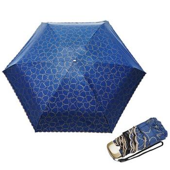 черный кружевной зонт | Мини карманный ветростойкий Автоматический Портативный Складной NV анти Солнечный зонтик Coche Plegable кружева солнце зонтик сад 50D0349