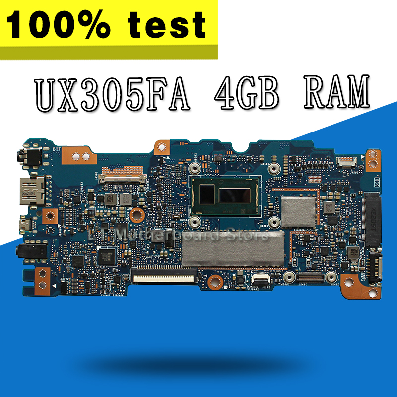 UX305FA Motherboard 4 gb RAM For ASUS UX305F U305F UX305 Laptop motherboard UX305FA Mainboard UX305FA Motherboard test 100% OK for asus ux305 ux305ca ux305la ux305fa 13 3 inch touch panel with digitizer