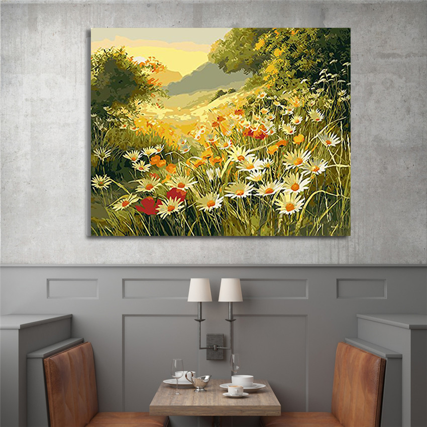 Paint By Numbers - Daisy Flowers Painting