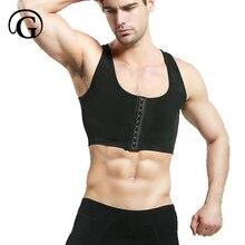 Männlichen control brust Bh Gynecomastia Brust Former Weste tops Sexy Männer Körperhaltung Korrektor Kompression Shirt Korsett Großhandel