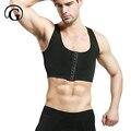 Masculino de controle Sutiã peito Ginecomastia Peito Shaper Vest tops Sexy Homens Postura Corrector Compressão Camisa Espartilho Por Atacado