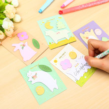 3 Pcs/Lot Cute animals life paste memo pad planner sticky note paper sticker kawaii stationery pepalaria office school supplies(China)