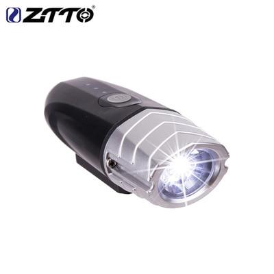 Spor ve Eğlence'ten Bisiklet Işığı'de ZTTO Dağ Yol bisiklet ışığı 500 lümen el feneri gece sürme süper parlak farlar şarj edilebilir parlama sürüş donanımları title=