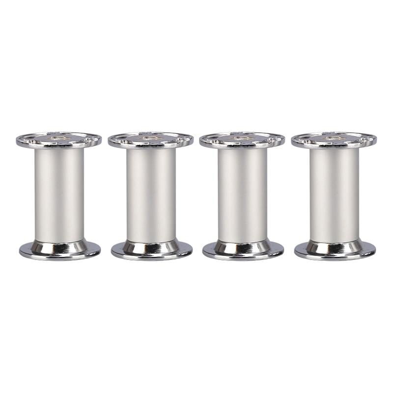 100x32MM Height Adjustable Aluminum Alloy Silver Cabinet Legs Table Feet Furniture Legs