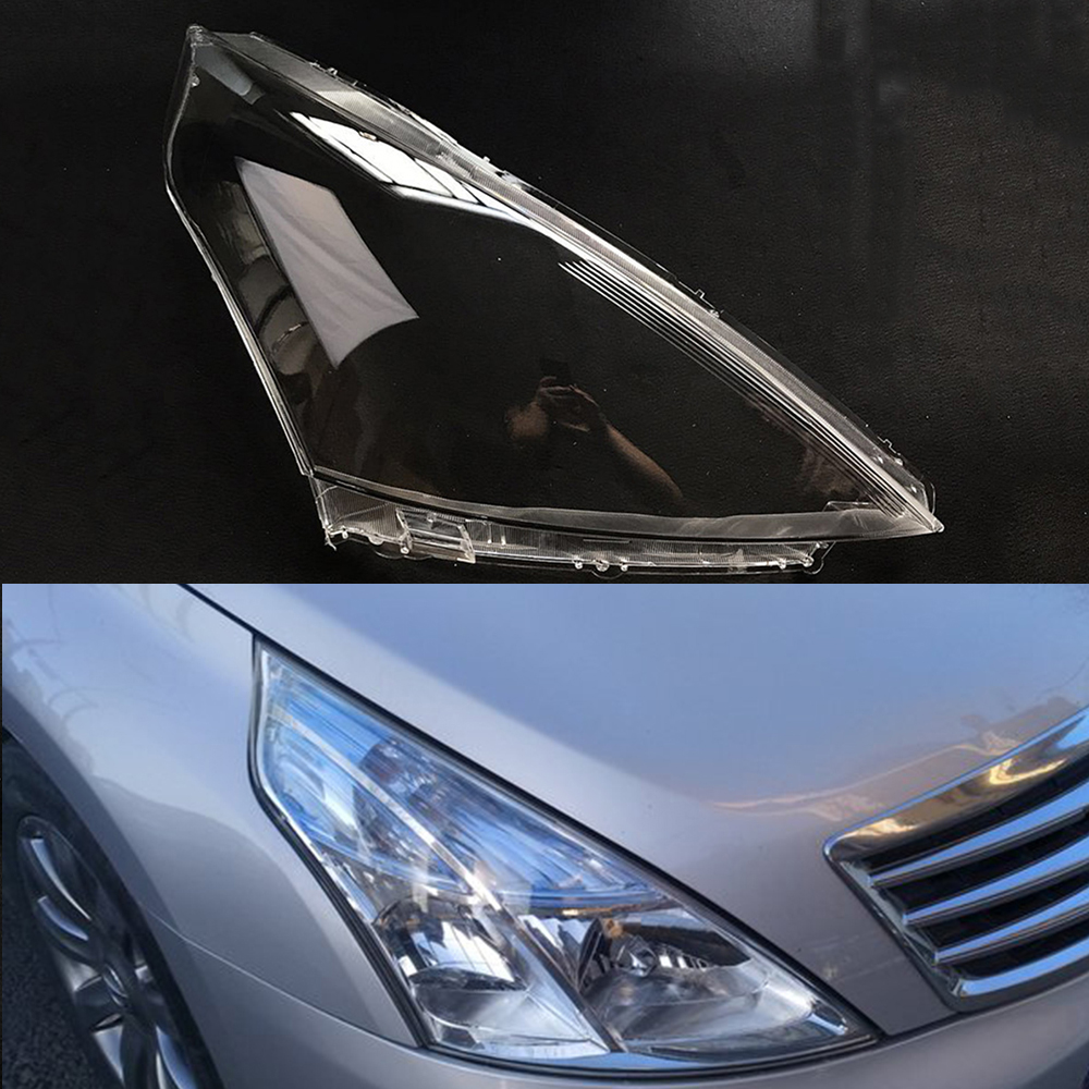For Nissan Teana 2008 2009 2010 Transparent Car Headlight Headlamp Clear Lens Auto Shell Cover