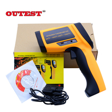 Cheap price GM1850 Non-contact LCD display infrared thermometer 200 to 1850degree (392~3362F) Emissivity of 80:1 temperature measuring gun