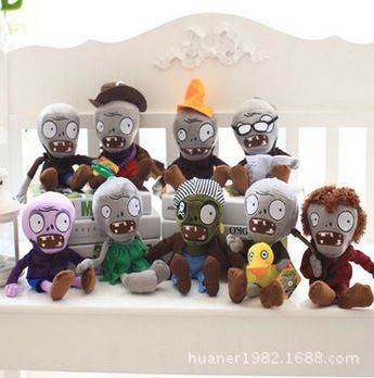 30CM 2017 new arrive Creative Plants vs Zombies plush toys baby toys cartoon spoof zombie series doll hot plants vs zombies plush doll toys 30cm pea shooter sunflower squash stuffed doll figures toys children kids gift
