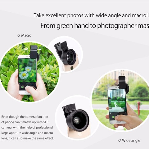 ORICO MPC-A 2 in 1 Mobile Phone Lenses Wide Angle + Macro Super Wide Angle Lenses Digital High Definition for Mobile Phone Lahore