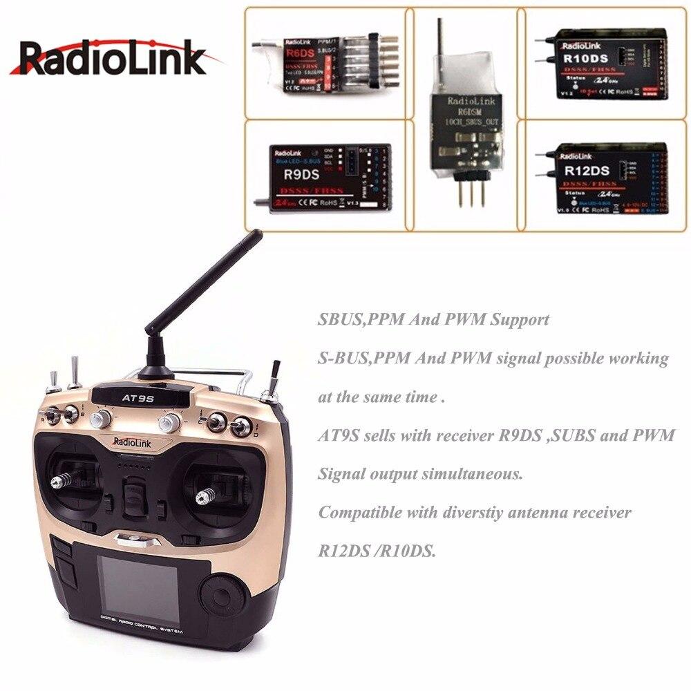 Radiolink at9s 2.4g 9ch 시스템 송신기 r9ds 수신기 at9 원격 제어 업데이트 비전 rc quadcopter 헬리콥터-에서부품 & 액세서리부터 완구 & 취미 의  그룹 2