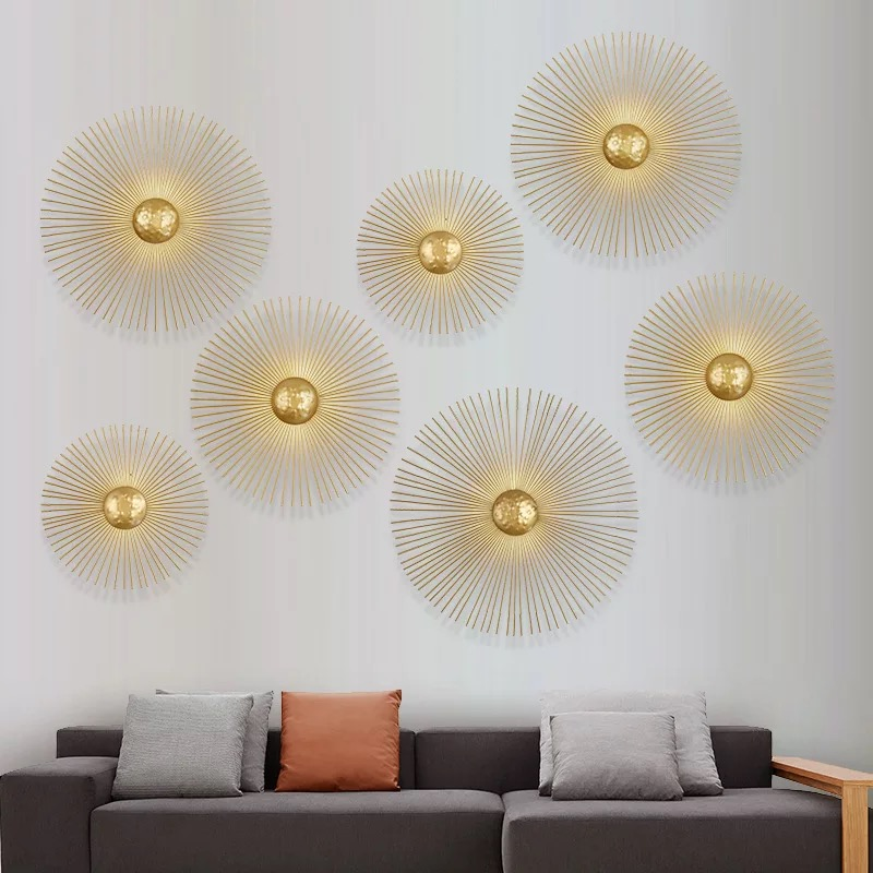 New Unique Circular Metal Led Wall Lamps Foyer Dining Room Bedside Wall Lights Sconce Retro Home Deco Light Fixtures Art DesignNew Unique Circular Metal Led Wall Lamps Foyer Dining Room Bedside Wall Lights Sconce Retro Home Deco Light Fixtures Art Design