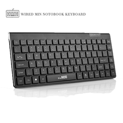 Original V3000 Mini USB Wired Mute Silence Laptop Computer keyboard 78Keys Portable Durable Office Work PC Keyboard