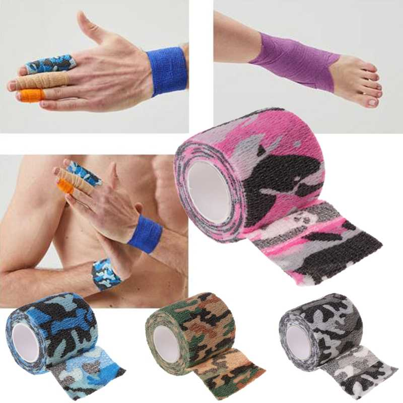 1 Roll Tattoo Self-adhesive Non-woven Elastic Bandage Grip Tube Cover Wrap Sport Tape Tattoo Supplies Accessories