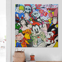 Lichtenstein Pop Art Cartoon Oil painting on canvas Hand painted Wall Art Picture for living Room Andy Warhol home decor 12