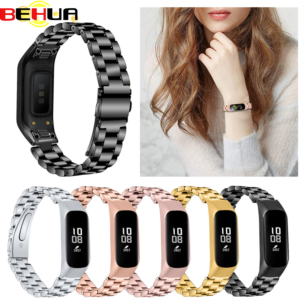 Fashion Watchband For Samsung Galaxy Fit-e SM-R375 R375 Smart Bracelet Men Women Replacement Stainless Steel Watch Strap Band