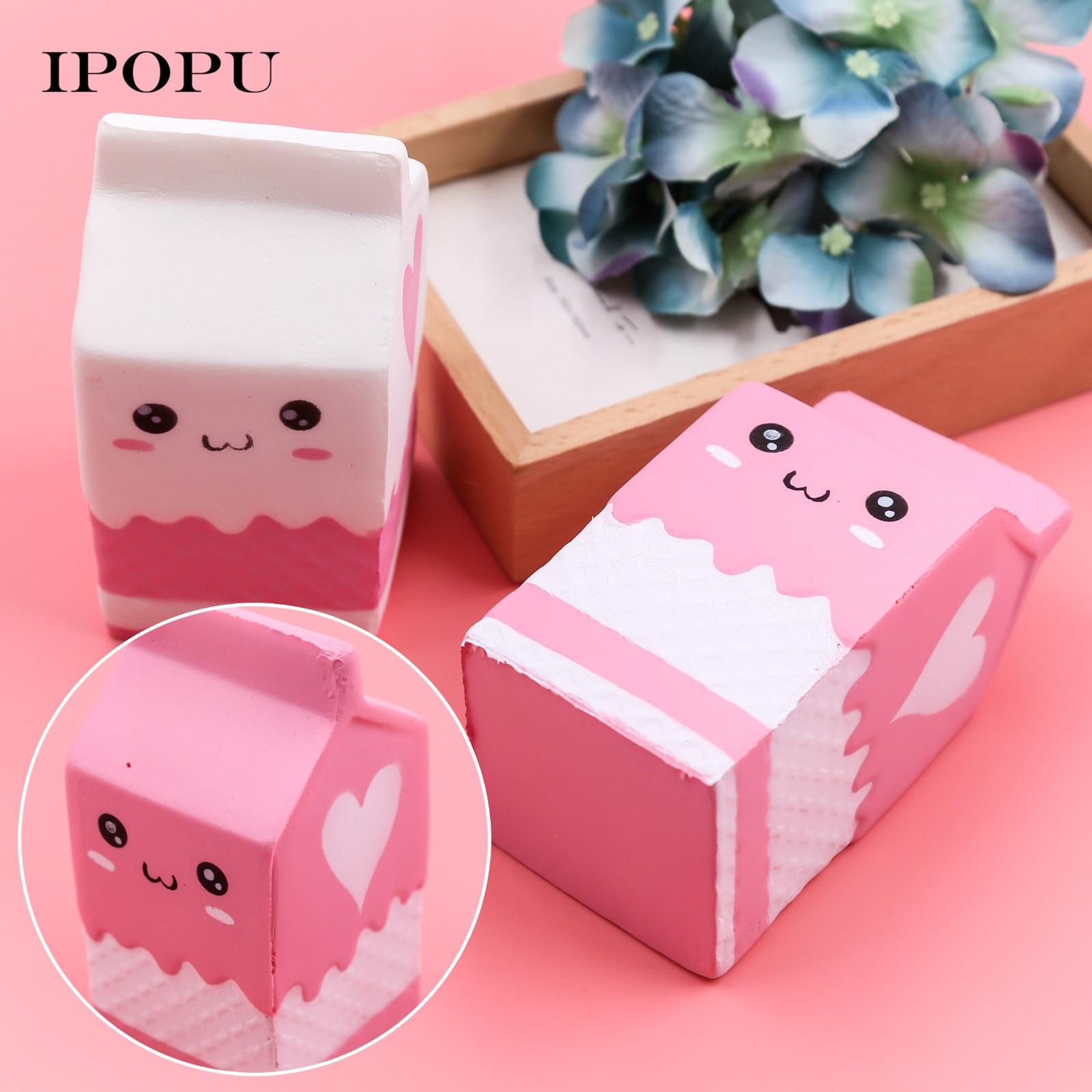 1PC Kawaii Soft Decompression Milk Bag Bottle Soft Slow Rising Toy ...