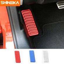 SHINEKA Автомобильная оклейка из алюминия сплав автомобиль левая подпятник педаль подставка для ног педаль чехол, противоскользящий для Ford Mustang 2015 +