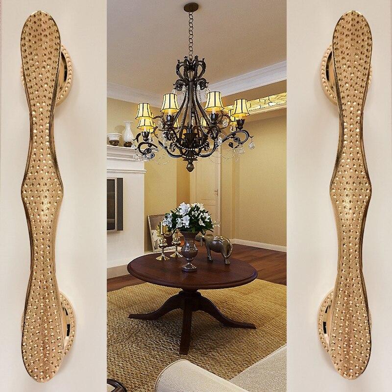 Furniture Decorative Hardware Glass Wooden Handle Door Handle Golden Rose Antique European Style Luxury C C