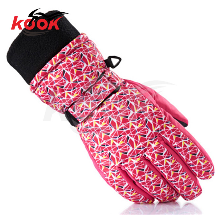 Motorcycle Protective Gears Winter <font><b>Warm</b></font> Windproof Outdoors sports universal ski <font><b>Gloves</b></font> pink women girls boys waterproof children