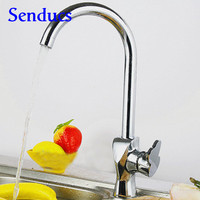 Free Shipping High Quality Classic Kitchen Faucet From Senducs Sanitary Ware Solid Brass Kitchen Sink Water