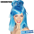 SHENGMEIYUAN New Fashion Wig colorful wigs Peruk Straight Hair Hot Sale long Wigs For Women Synthetic Fiber