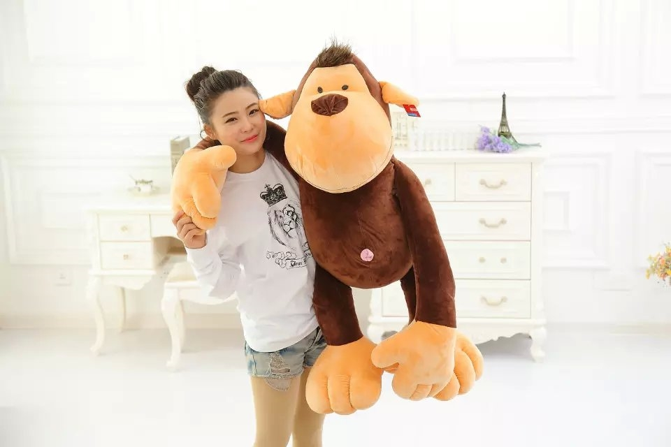 new creative monkey toy big plush long arm orangutan doll gift about110cm 0119 black orangutan 75x85cm chimpanzee plush toy black king kong doll gift w4663
