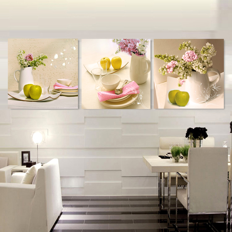 3 πάνελ τοίχων Εικόνες λουλουδιών - Διακόσμηση σπιτιού - Φωτογραφία 3